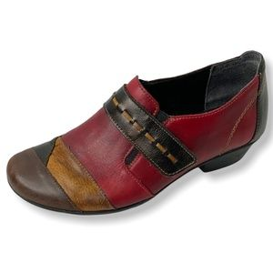 REMONTE Genuine Leather Color Block Comfort Shoe